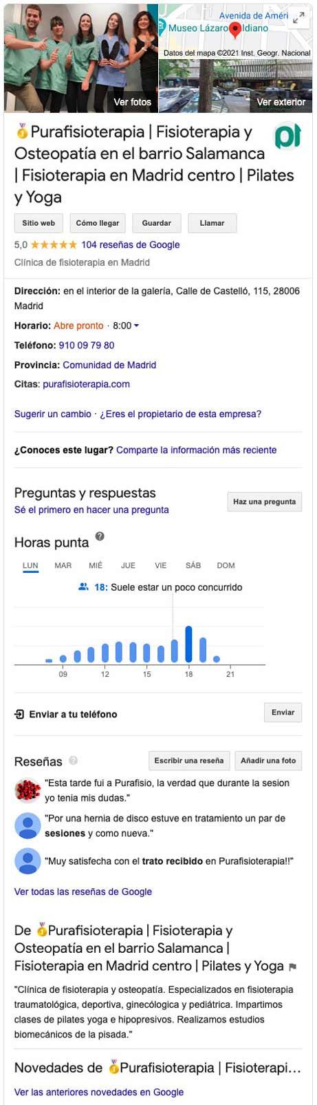 optimizacion de google my business