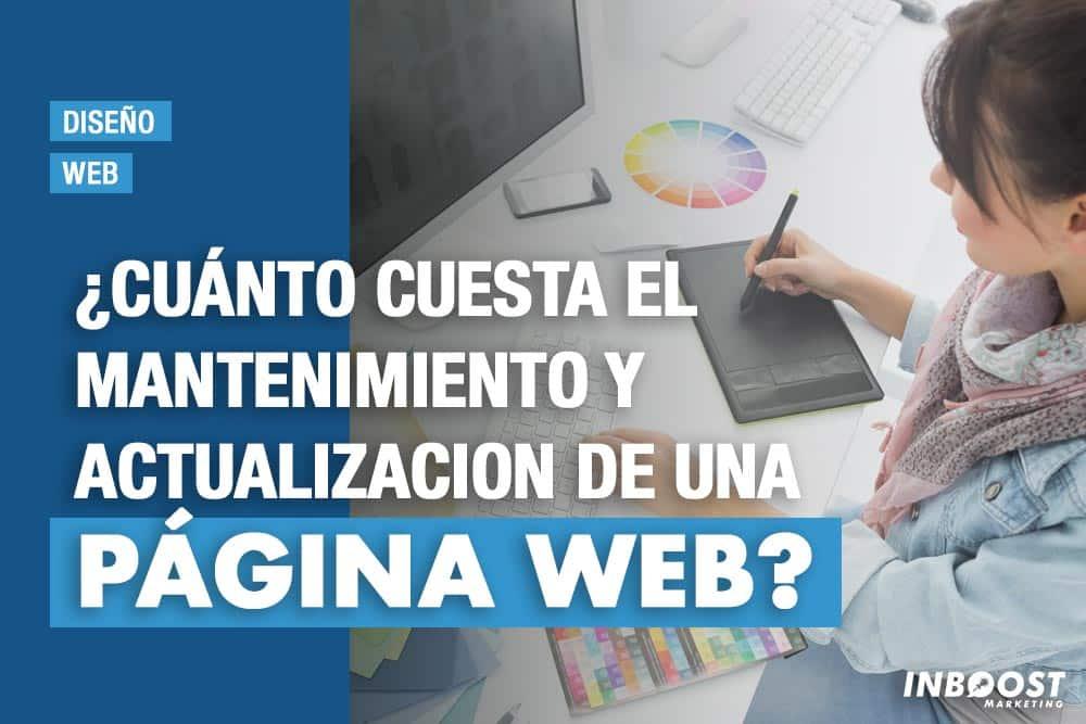 cuanto cuesta mantenimiento actualizacion web
